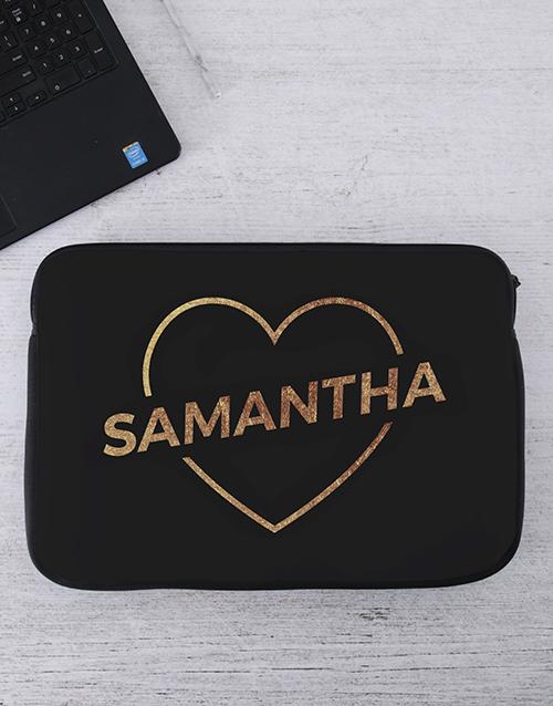 apparel: Personalised Love Laptop Sleeve!