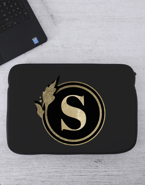 bosses-day: Personalised Initial Laptop Sleeve!
