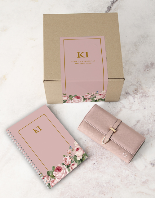 bosses-day: Personalised Pink Purse And Notebook!