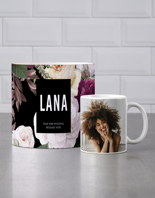 birthday: Personalised Floral Mug Tube!