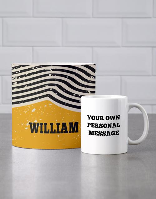 homeware: Personalised Rustic Mug Tube!