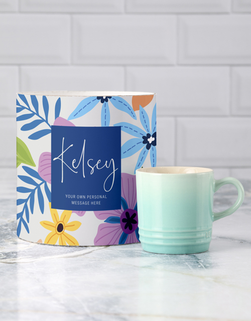 birthday: Personalised Floral Le Creuset Mug Tube!
