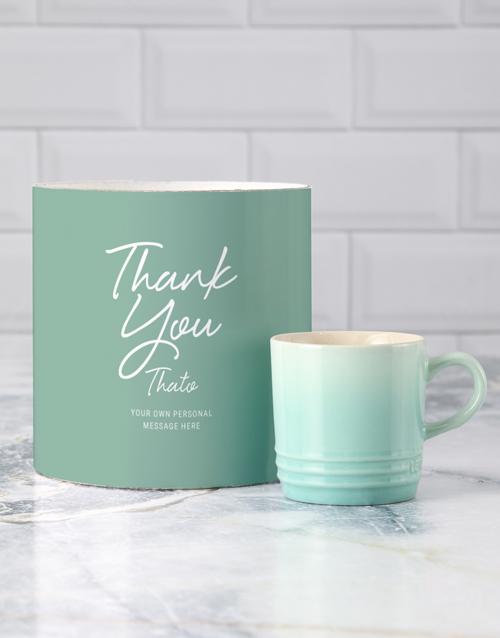 homeware: Personalised Thank You Le Creuset Mug Tube!