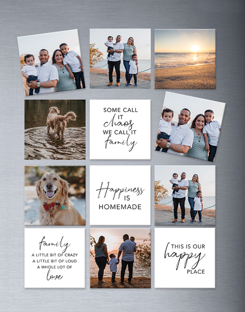 fathers-day: Personalised Family Theme Magnets Large!