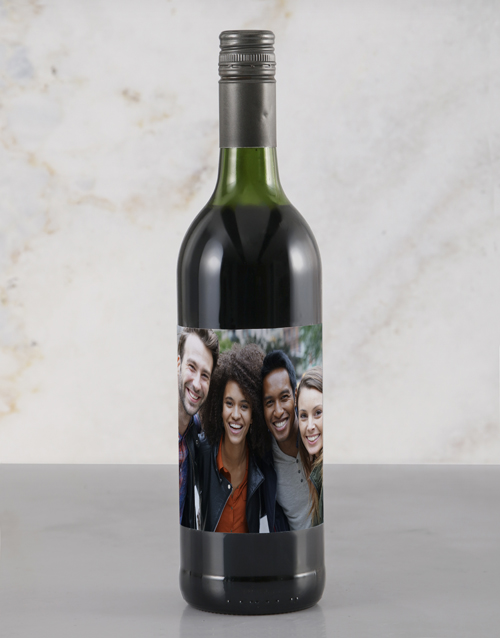 love-and-romance: Personalised Photo Red Wine!