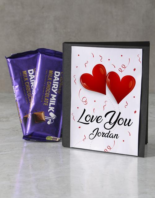 love-and-romance: Personalised Love You Cadbury Card!