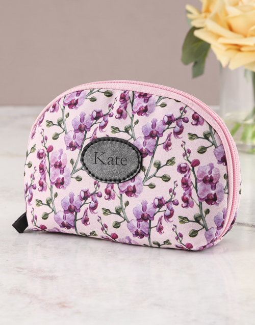 secretarys-day: Personalised Orchid Opulence Cosmetic Bag !