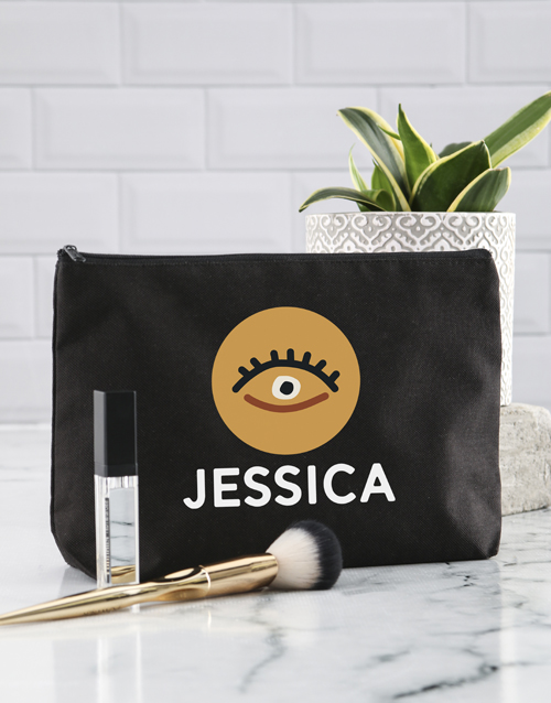 bath-and-body: Personalised Gold Eye Cosmetic Bag!