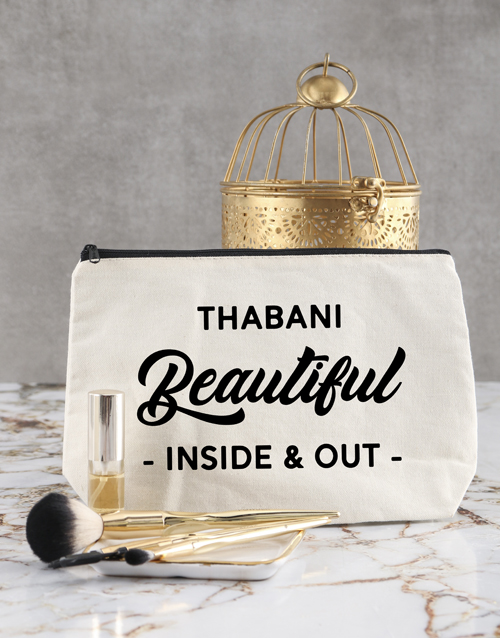 bath-and-body: Personalised Beautiful In And Out Cosmetic Bag!