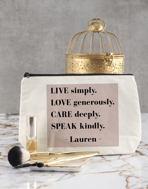 bath-and-body: Personalised Live Simply Cosmetic Bag!