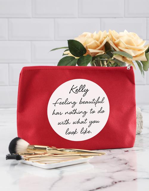 bath-and-body: Personalised Feel Beautiful Cosmetic Bag!