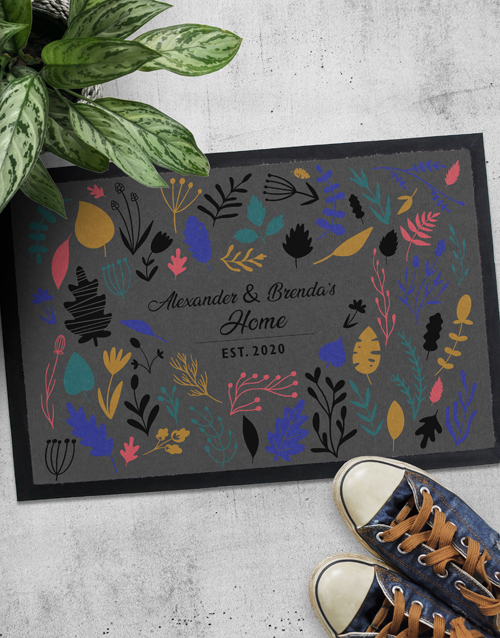 home-decor: Personalised Floral Names Doormat!