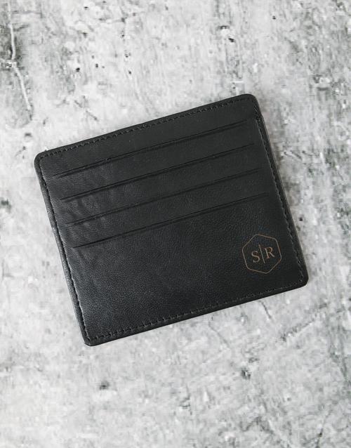personalised: Personalised Professional Black Card Holder!