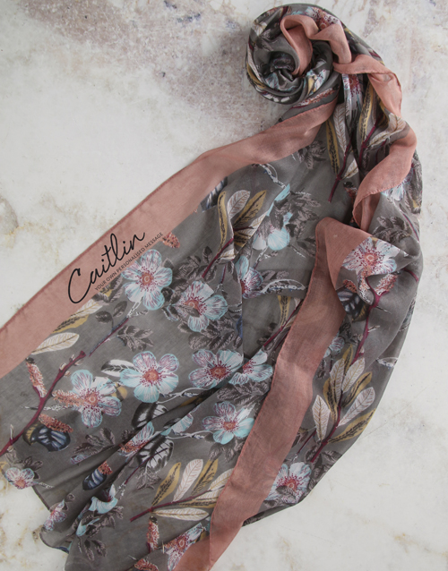 apparel: Personalised Scarf With Wine!