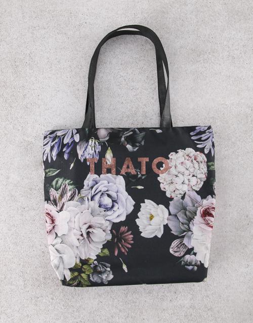 apparel: Personalised Dark and Dreamy Floral Tote Bag!