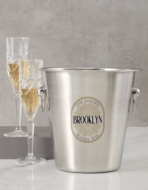 love-and-romance: Personalised Name And Message Ice Bucket!