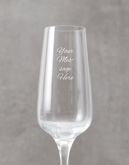 love-and-romance: Personalised Cursive Message Champagne Flute!