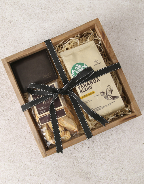 personalised: Personalised Wallet And Coffee Box!