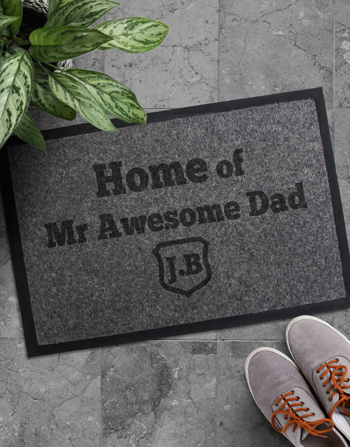 fathers-day: Personalised Awesome Dad Doormat!