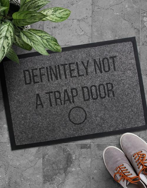 home-decor: Personalised Trap Door Doormat!