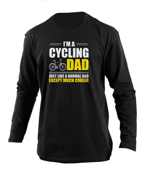 cyber-monday: Personalised Cycling Dad Longsleeve T Shirt!