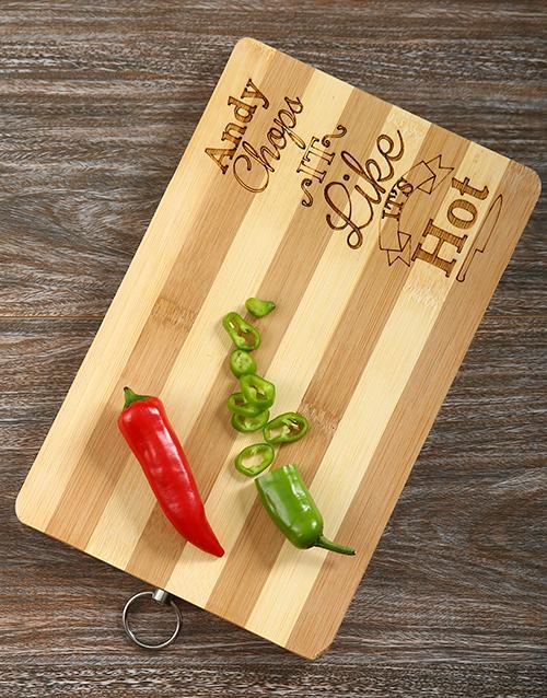best-sellers: Chop it Like its Hot Personalised Board!