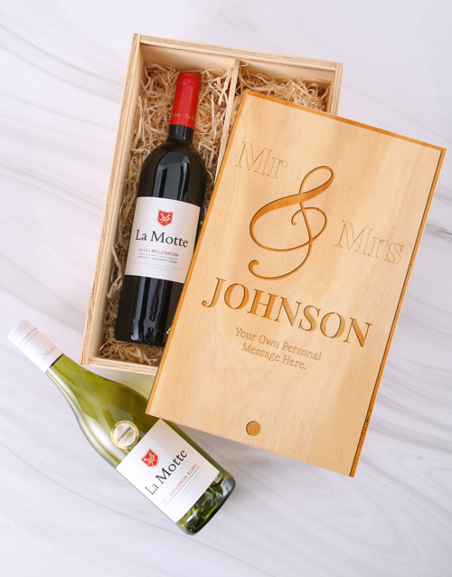 fine-alcohol: Personalised Mr and Mrs La Motte Crate!