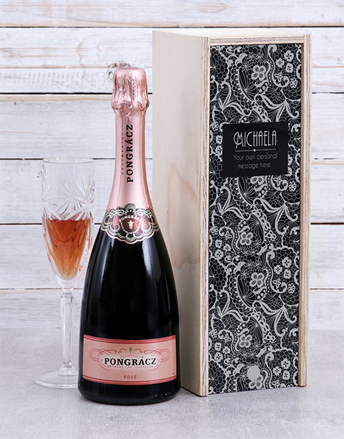 fine-alcohol: Personalised Lace Rose Crate!