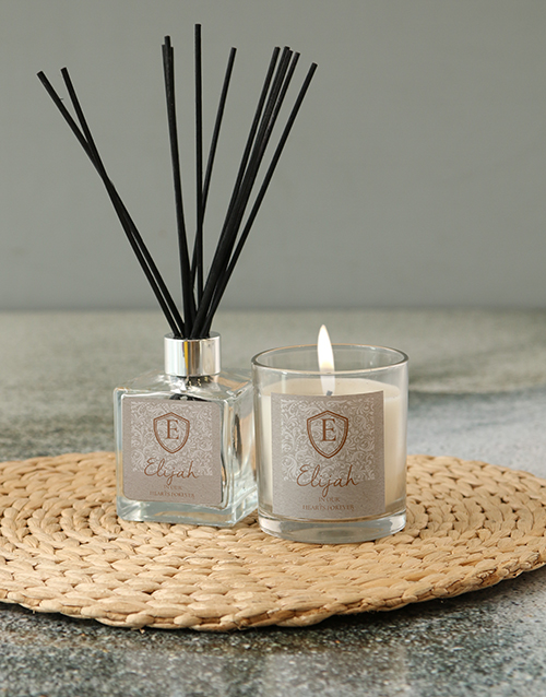 personalised: Personalised Shield Initial Candle!