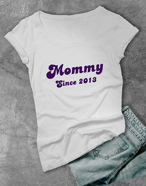 personalised: Personalised Mommy T Shirt!