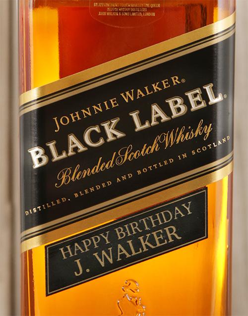 christmas: Personalised Johnnie Walker Black!