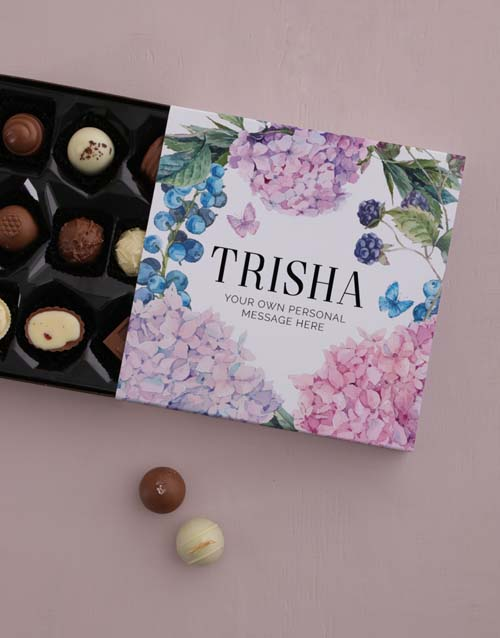 bosses-day: Personalised Pretty Florals Chocolate Tray!