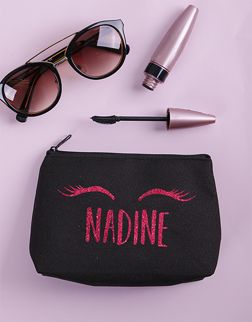 christmas: Personalised Lashes Cosmetic Bag!