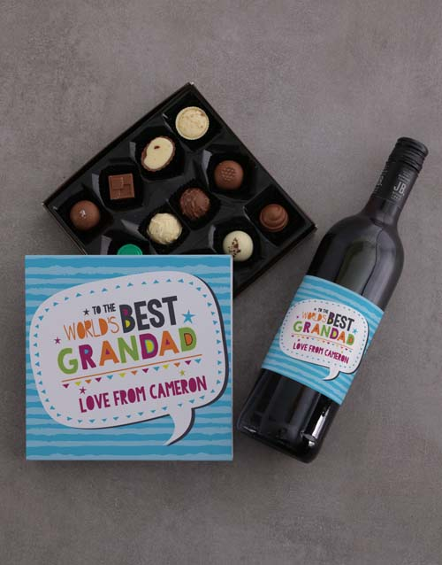 fathers-day: Personalised Best Grandad Choc Tray!