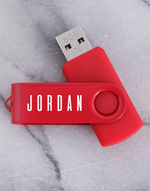 secretarys-day: Personalised Red 8G USB!