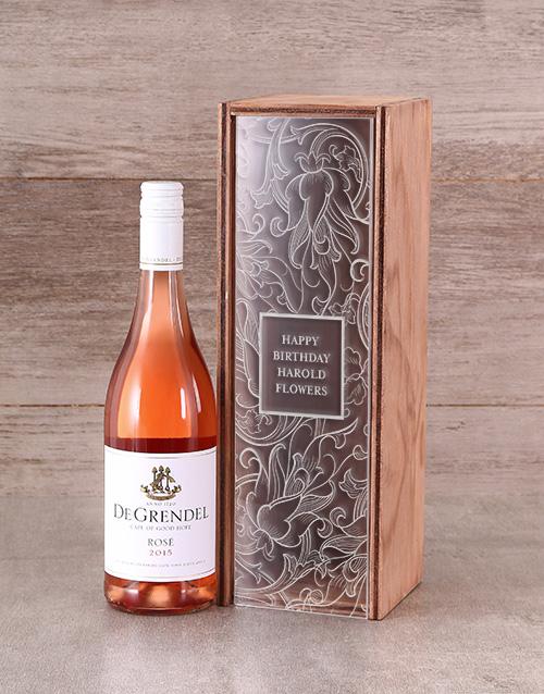 personalised: Personalised Perspex Lid Wine Crate!