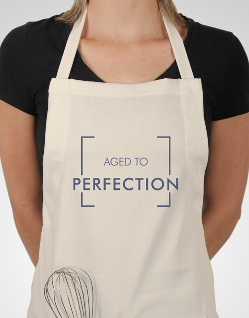 grandparents-day: Personalised Aged To Perfection Apron!