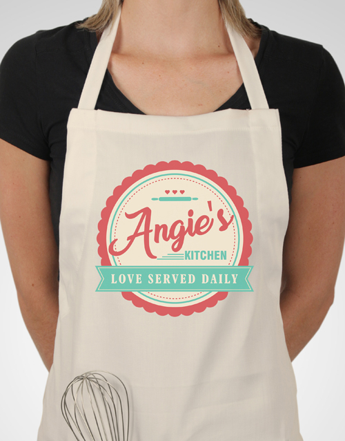 christmas: Personalised Love Served Apron!