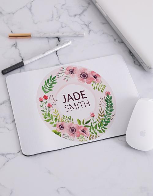 personalised: Personalised Floral Wonder Mouse Pad!