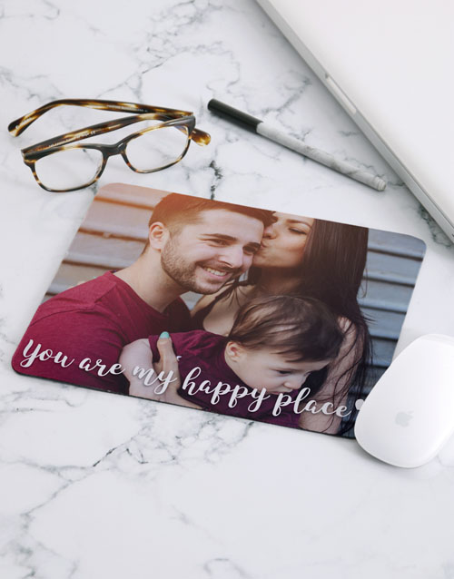 personalised: Personalised Message Photo Mouse Pad!