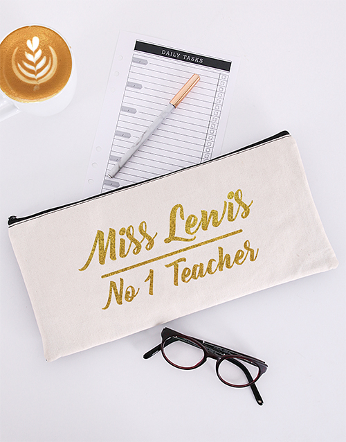 pencil-cases: Personalised No One Teacher Pencil Bag!