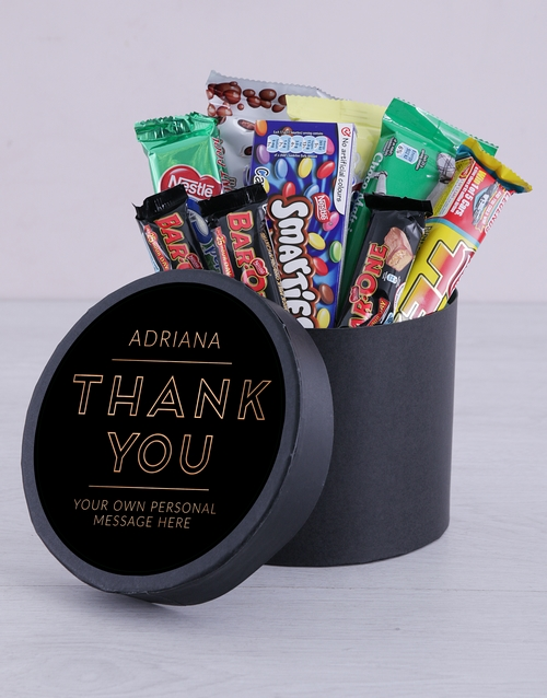 year-end: Personalised Thank You Hat Box!