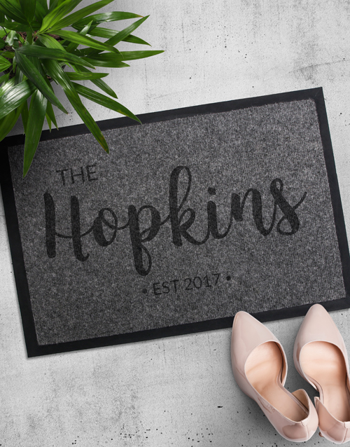 home-decor: Personalised Family Name Doormat!