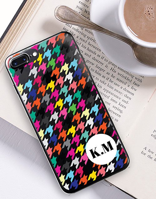 prices: Personalised Houndstooth iPhone Cover!