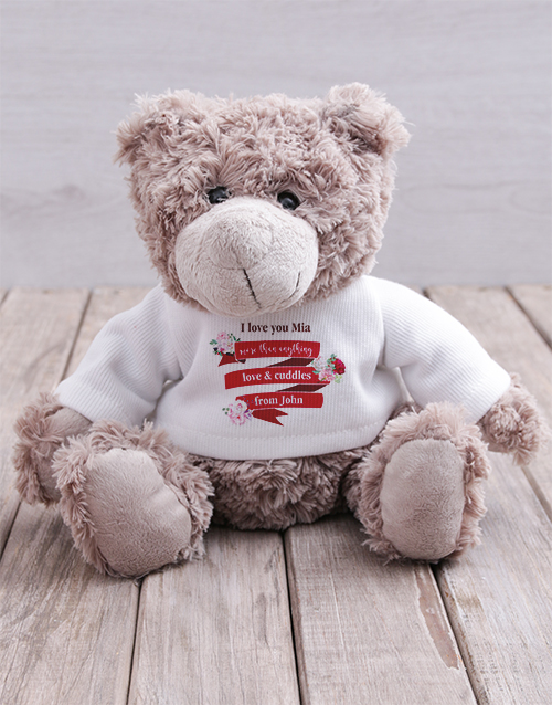 teddy-bears: Personalised Love and Cuddles Teddy!