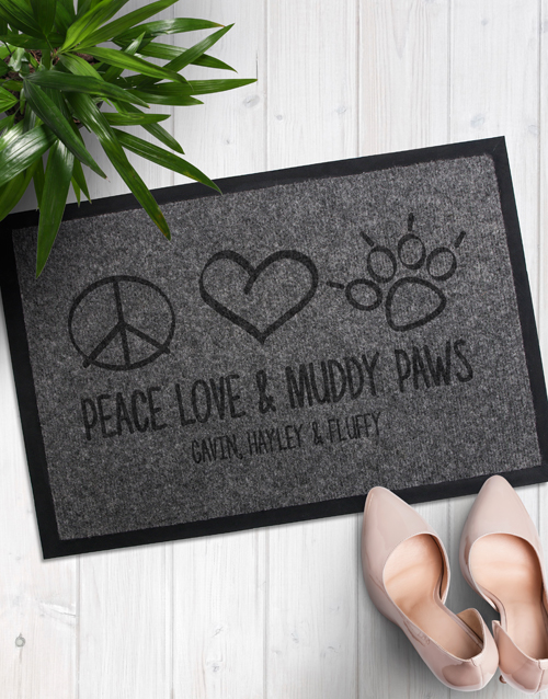 valentines-day: Personalised Muddy Paws Doormat!