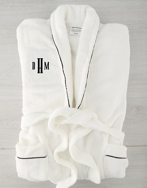 christmas: Personalised Urban Monogram Fleece Gown!