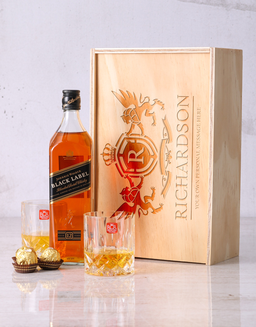fine-alcohol: Personalised Crest Whisky and Crystal Crate!