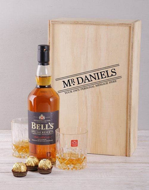 personalised: Personalised Title Whisky and Crystal Crate!