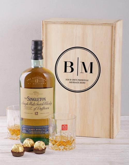 personalised: Personalised Monogram Whiskey and Crystal Crate!